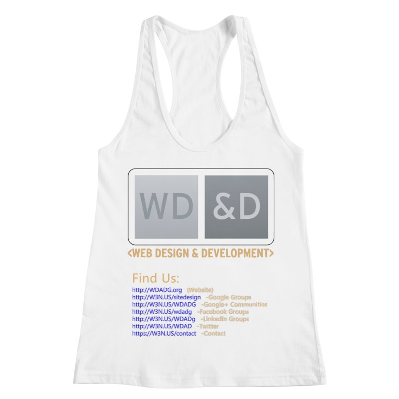 [WD&D] Web Design and Development group (SiteDesign) Women's Racerback Tank by Logo Gear & Logo Wear