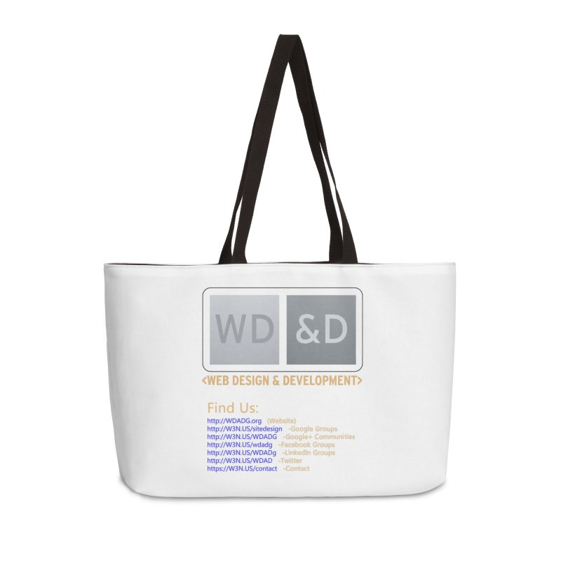 [WD&D] Web Design and Development group (SiteDesign) Accessories Weekender Bag Bag by Logo Gear & Logo Wear