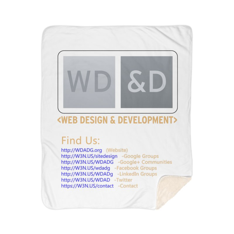[WD&D] Web Design and Development group (SiteDesign) Home Sherpa Blanket Blanket by Logo Gear & Logo Wear
