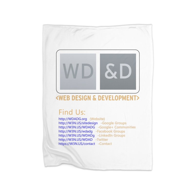 [WD&D] Web Design and Development group (SiteDesign) Home Blanket by Logo Gear & Logo Wear