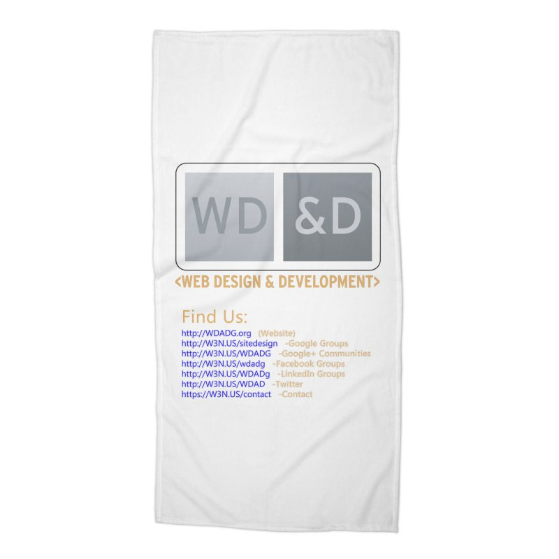 [WD&D] Web Design and Development group (SiteDesign) Accessories Beach Towel by Logo Gear & Logo Wear