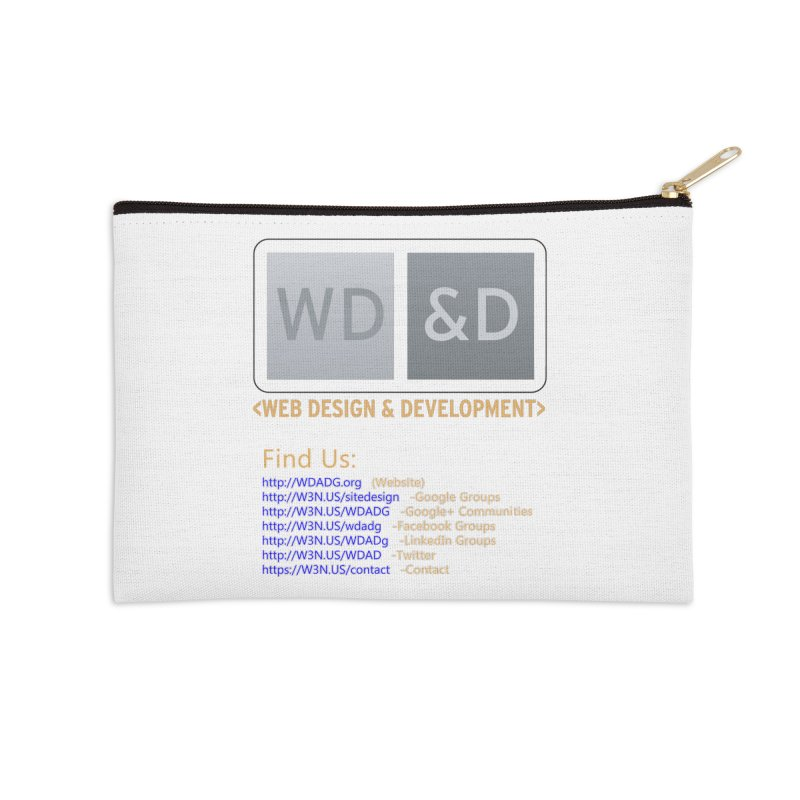 [WD&D] Web Design and Development group (SiteDesign) Accessories Zip Pouch by Logo Gear & Logo Wear
