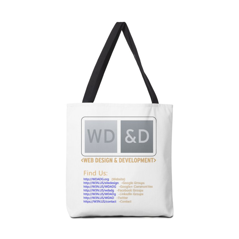 [WD&D] Web Design and Development group (SiteDesign) Accessories Tote Bag Bag by Logo Gear & Logo Wear