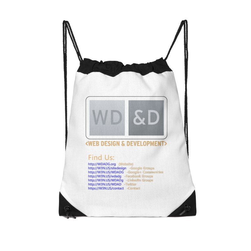 [WD&D] Web Design and Development group (SiteDesign) Accessories Drawstring Bag Bag by Logo Gear & Logo Wear