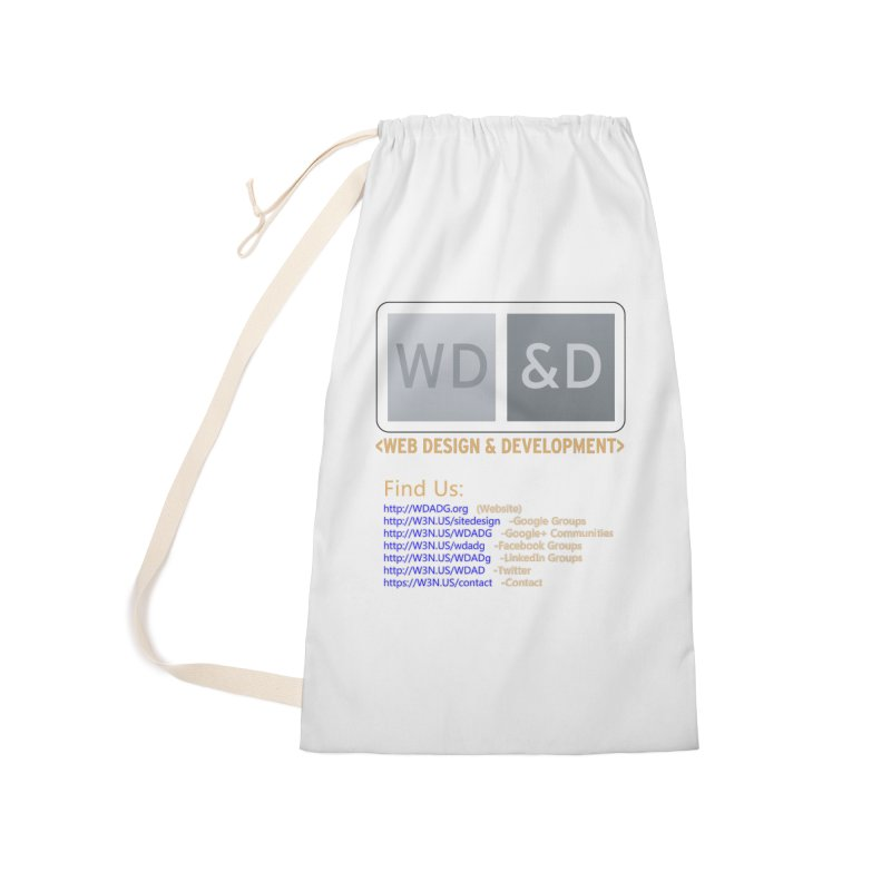 [WD&D] Web Design and Development group (SiteDesign) Accessories Laundry Bag Bag by Logo Gear & Logo Wear