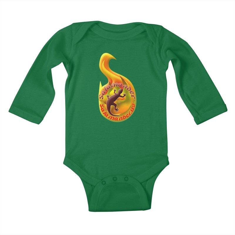 Salamander (Salamander.US) Kids Baby Longsleeve Bodysuit by Logo Gear & Logo Wear