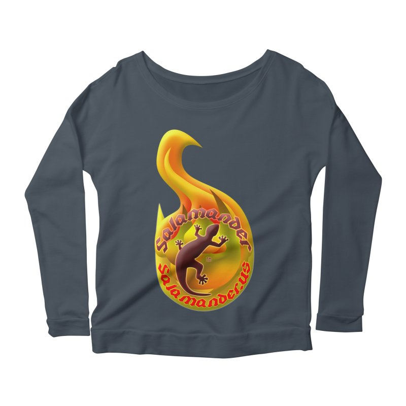 Salamander (Salamander.US) Women's Scoop Neck Longsleeve T-Shirt by Logo Gear & Logo Wear