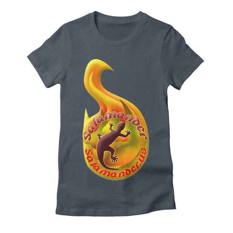 Salamander (Salamander.US) Women's Fitted T-Shirt by Logo Gear & Logo Wear