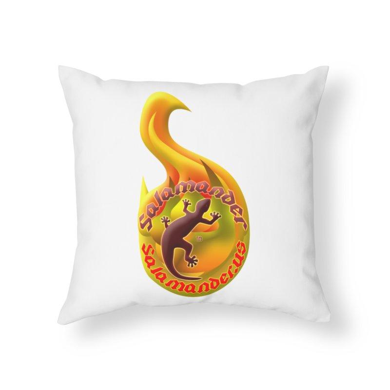 Salamander (Salamander.US) Home Throw Pillow by Logo Gear & Logo Wear