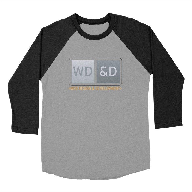 WD&D <WEB DESIGN & DEVELOPMENT> Men's Baseball Triblend Longsleeve T-Shirt by Logo Gear & Logo Wear