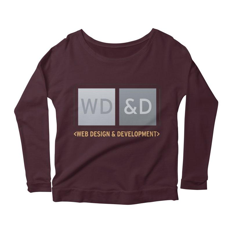 WD&D <WEB DESIGN & DEVELOPMENT> Women's Longsleeve Scoopneck  by Logo Gear & Logo Wear