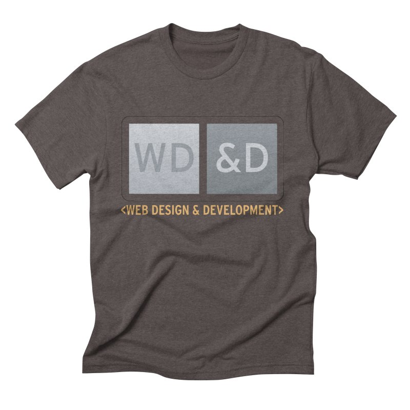 WD&D <WEB DESIGN & DEVELOPMENT> Men's Triblend T-Shirt by Logo Gear & Logo Wear