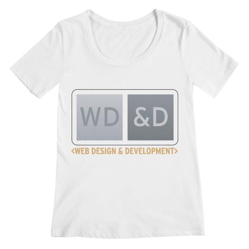 WD&D <WEB DESIGN & DEVELOPMENT> Women's Regular Scoop Neck by Logo Gear & Logo Wear