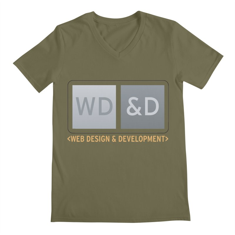WD&D <WEB DESIGN & DEVELOPMENT> Men's Regular V-Neck by Logo Gear & Logo Wear