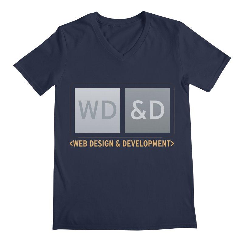 WD&D <WEB DESIGN & DEVELOPMENT> Men's Regular V-Neck by Logo Gear & Logo Wear
