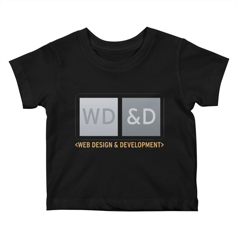 WD&D <WEB DESIGN & DEVELOPMENT> Kids Baby T-Shirt by Logo Gear & Logo Wear