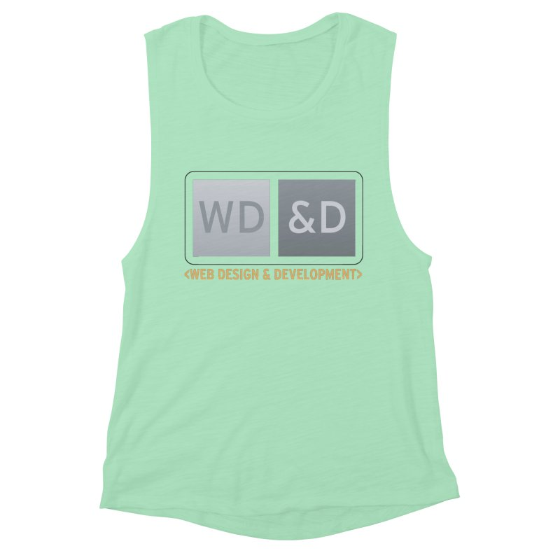 WD&D <WEB DESIGN & DEVELOPMENT> Women's Muscle Tank by Logo Gear & Logo Wear