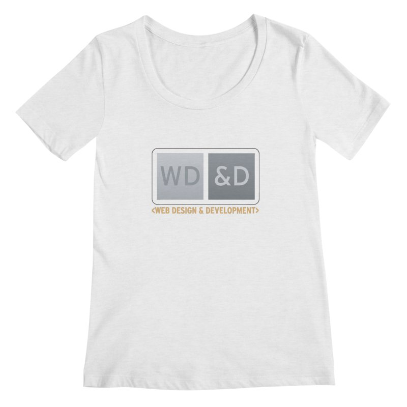 WD&D <WEB DESIGN & DEVELOPMENT> Women's Regular Scoop Neck by Logo Gear & Logo Wear