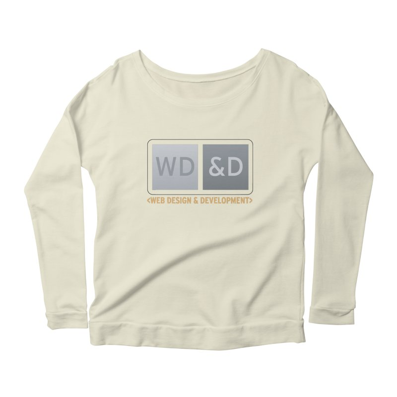 WD&D <WEB DESIGN & DEVELOPMENT> Women's Scoop Neck Longsleeve T-Shirt by Logo Gear & Logo Wear