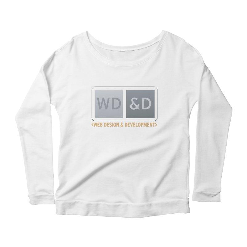 WD&D <WEB DESIGN & DEVELOPMENT> Women's Scoop Neck Longsleeve T-Shirt by Logo Gear & Logo Wear