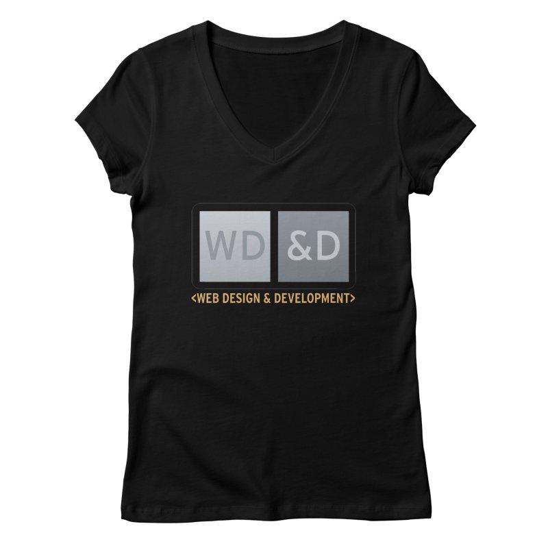 WD&D <WEB DESIGN & DEVELOPMENT> Women's Regular V-Neck by Logo Gear & Logo Wear