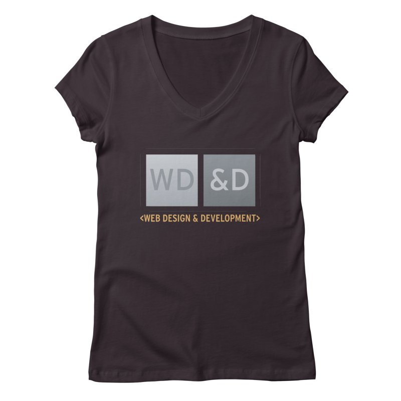 WD&D <WEB DESIGN & DEVELOPMENT> Women's Regular V-Neck by Logo Gear & Logo Wear