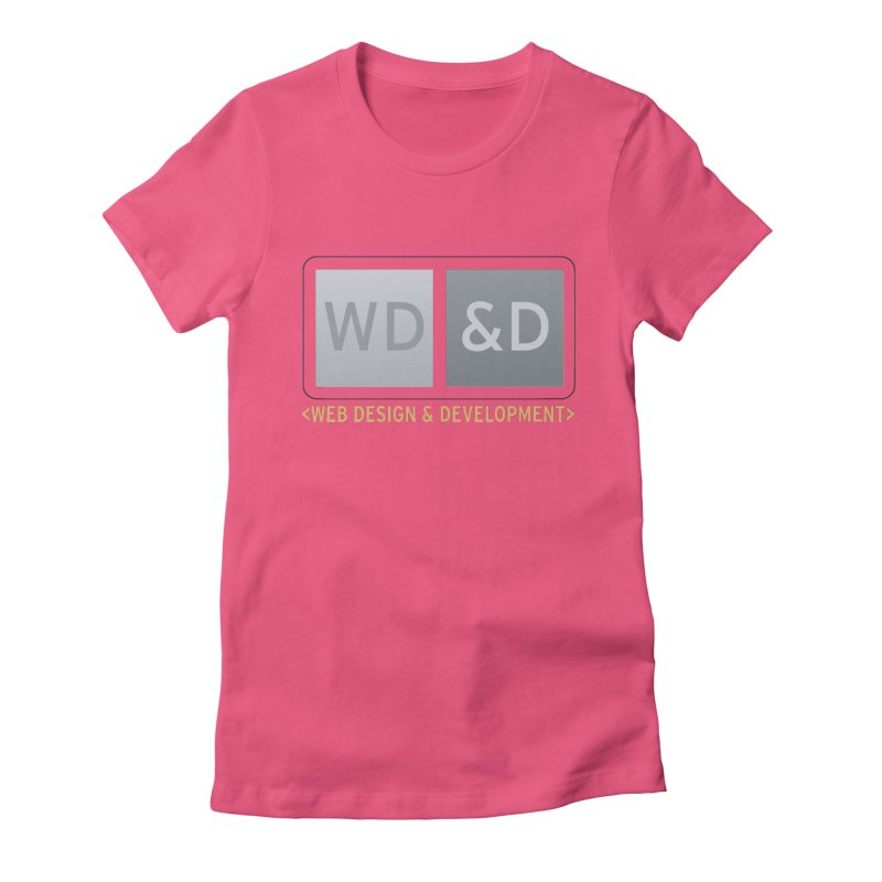 WD&D <WEB DESIGN & DEVELOPMENT> Women's Fitted T-Shirt by Logo Gear & Logo Wear