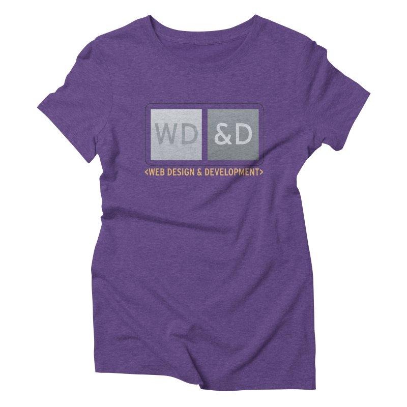 WD&D <WEB DESIGN & DEVELOPMENT> Women's Triblend T-Shirt by Logo Gear & Logo Wear