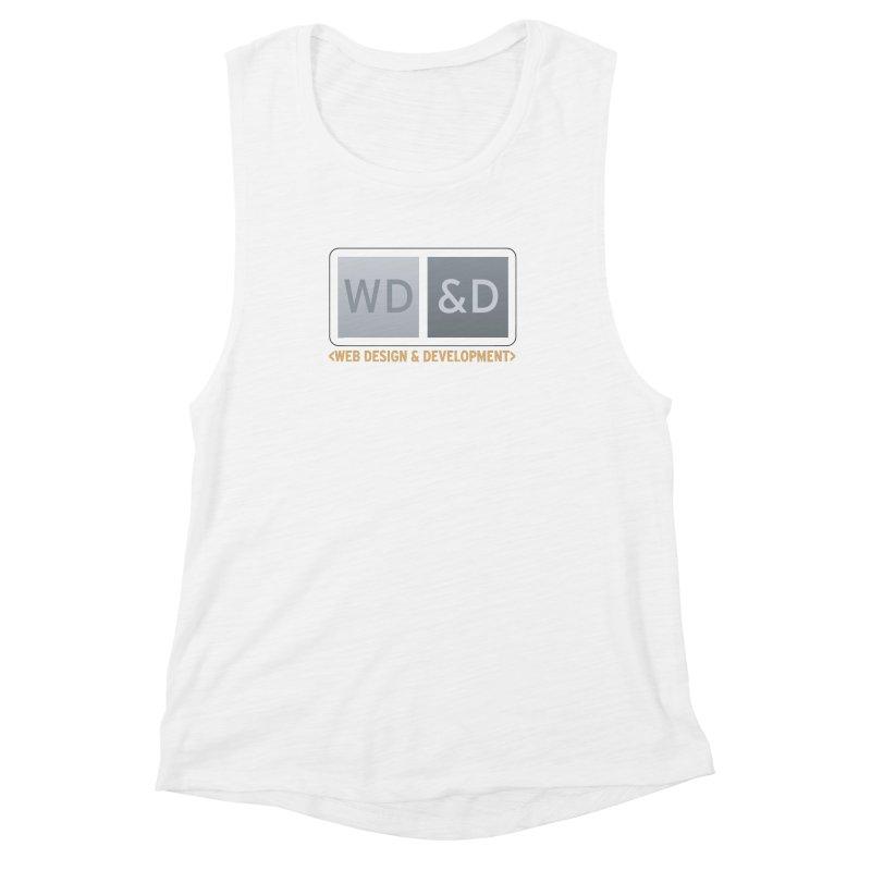 WD&D <WEB DESIGN & DEVELOPMENT> Women's Muscle Tank by Logo Gear & Logo Wear