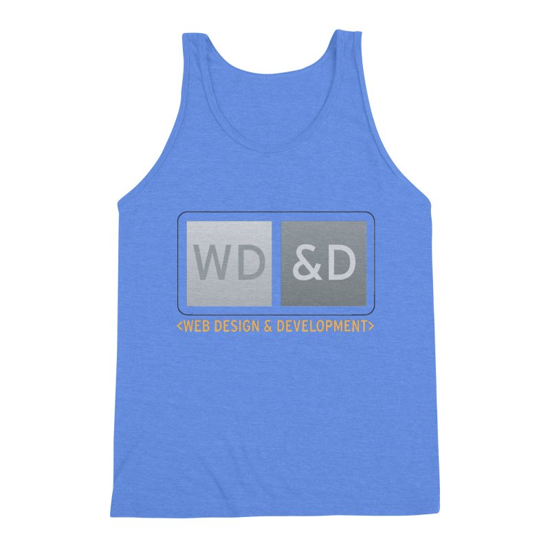WD&D <WEB DESIGN & DEVELOPMENT> Men's Triblend Tank by Logo Gear & Logo Wear