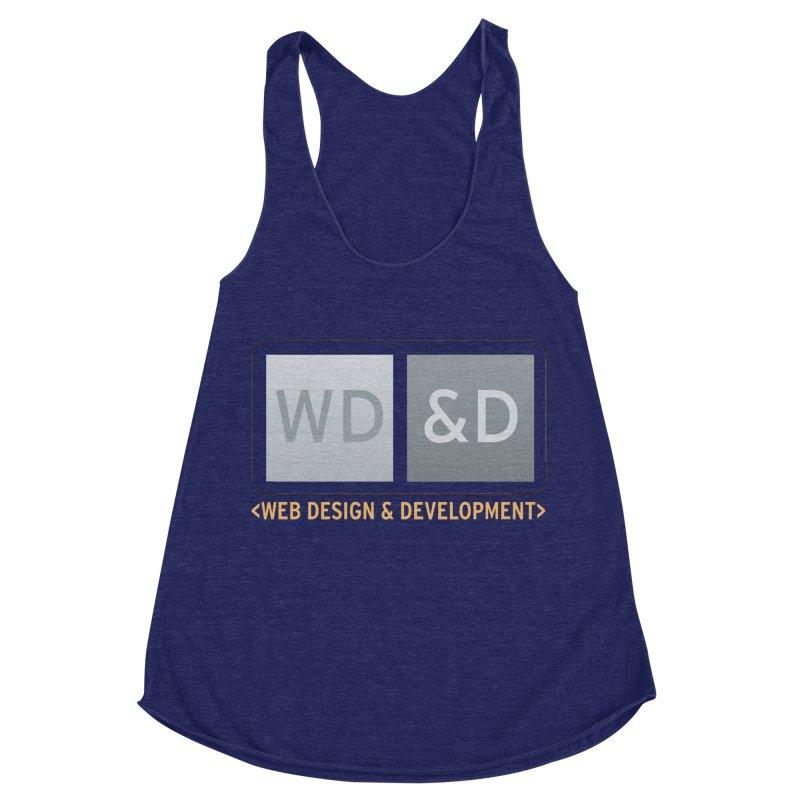 WD&D <WEB DESIGN & DEVELOPMENT> Women's Racerback Triblend Tank by Logo Gear & Logo Wear