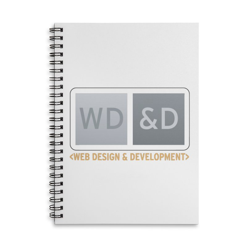 WD&D <WEB DESIGN & DEVELOPMENT> Accessories Lined Spiral Notebook by Logo Gear & Logo Wear