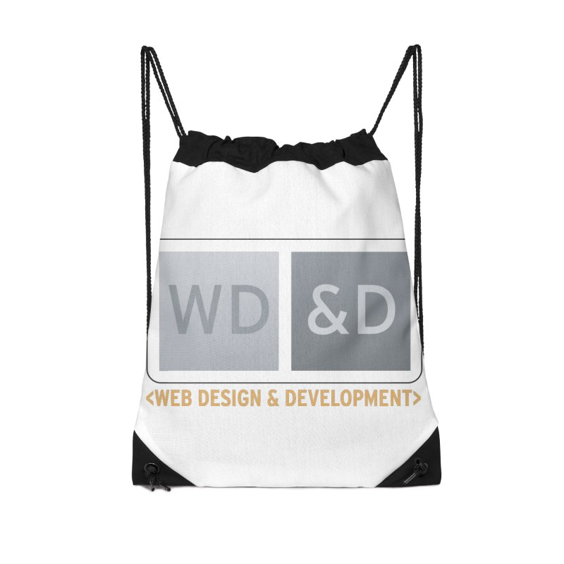 WD&D <WEB DESIGN & DEVELOPMENT> Accessories Drawstring Bag Bag by Logo Gear & Logo Wear