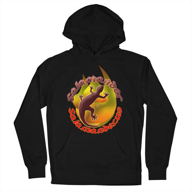 Salamander logo (small flame) Men's French Terry Pullover Hoody by Logo Gear & Logo Wear