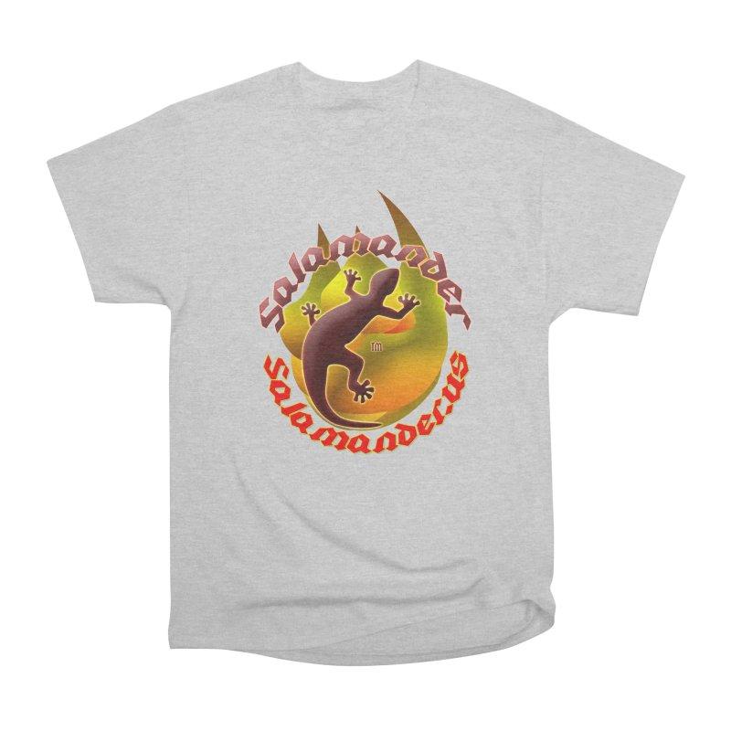 Salamander logo (small flame) Women's Heavyweight Unisex T-Shirt by Logo Gear & Logo Wear