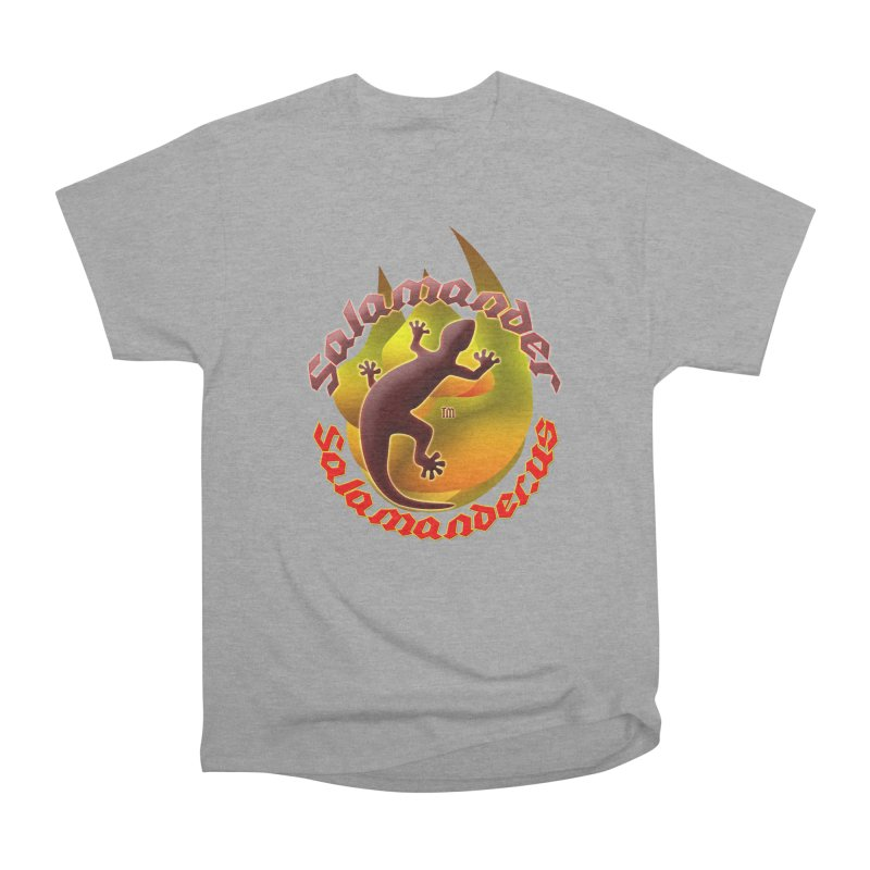 Salamander logo (small flame) Men's Heavyweight T-Shirt by Logo Gear & Logo Wear