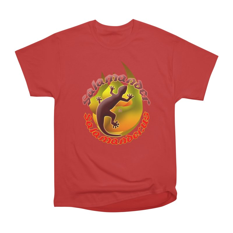Salamander logo (small flame) Women's Heavyweight Unisex T-Shirt by Logo Gear & Logo Wear