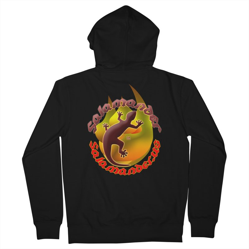 Salamander logo (small flame) Men's French Terry Zip-Up Hoody by Logo Gear & Logo Wear