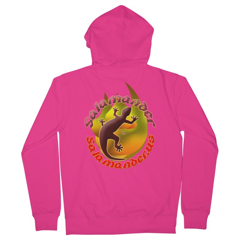 Salamander logo (small flame) Men's French Terry Zip-Up Hoody by Logo Gear & Logo Wear