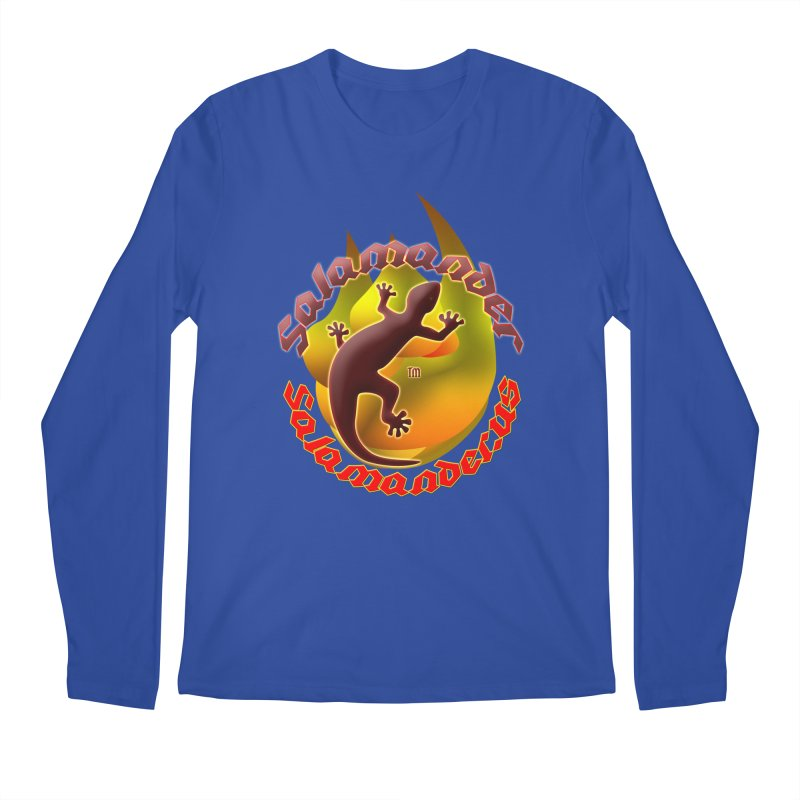 Salamander logo (small flame) Men's Regular Longsleeve T-Shirt by Logo Gear & Logo Wear