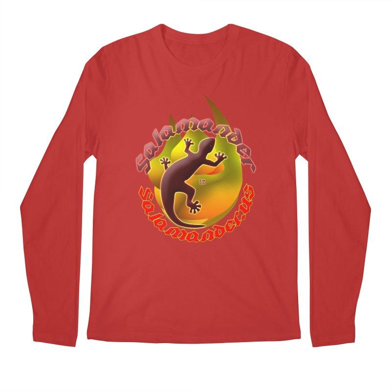 Salamander logo (small flame) Men's Regular Longsleeve T-Shirt by Logo Gear & Logo Wear