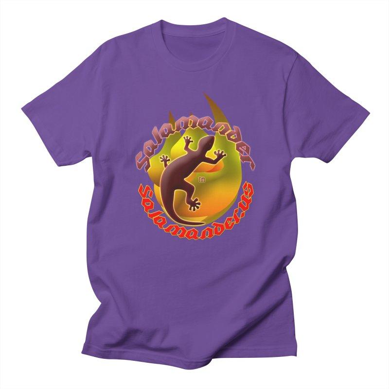 Salamander logo (small flame) Men's T-Shirt by Logo Gear & Logo Wear