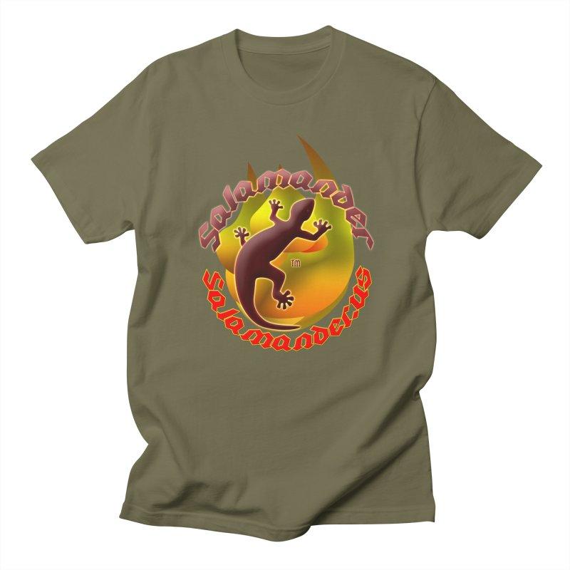 Salamander logo (small flame) Women's Regular Unisex T-Shirt by Logo Gear & Logo Wear