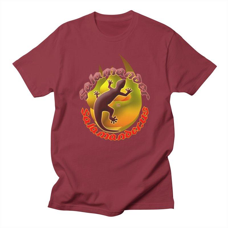 Salamander logo (small flame) Men's Regular T-Shirt by Logo Gear & Logo Wear