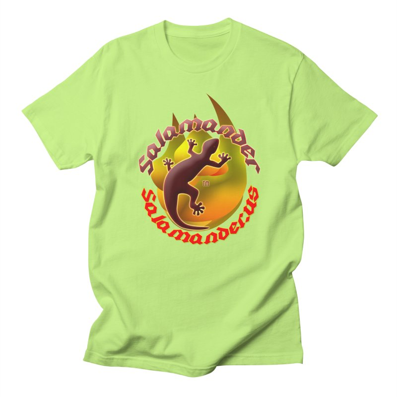 Salamander logo (small flame) Women's Regular Unisex T-Shirt by Logo Gear & Logo Wear