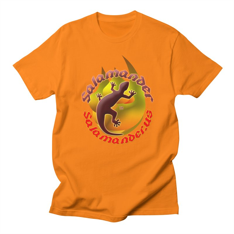 Salamander logo (small flame) Men's Regular T-Shirt by Logo Gear & Logo Wear