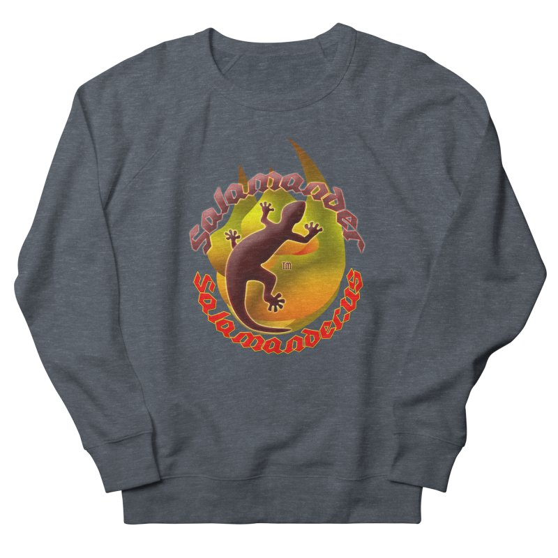 Salamander logo (small flame) Men's French Terry Sweatshirt by Logo Gear & Logo Wear