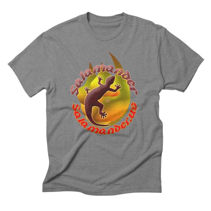 Salamander logo (small flame) Men's Triblend T-Shirt by Logo Gear & Logo Wear