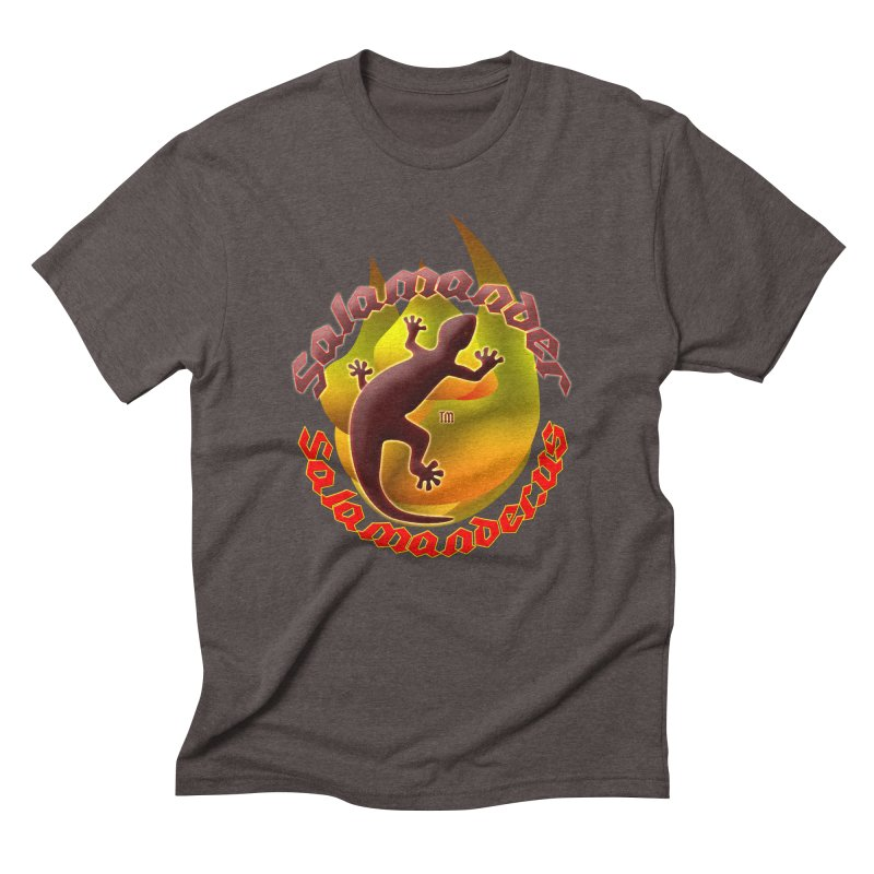 Salamander logo (small flame) Men's Triblend T-Shirt by Logo Gear & Logo Wear