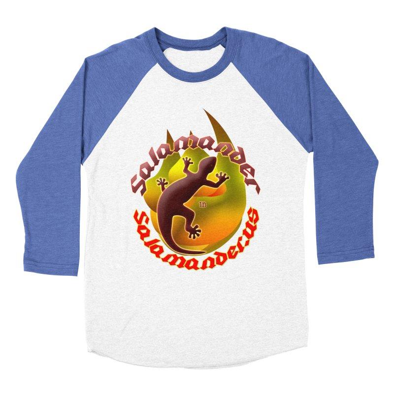 Salamander logo (small flame) Men's Baseball Triblend Longsleeve T-Shirt by Logo Gear & Logo Wear
